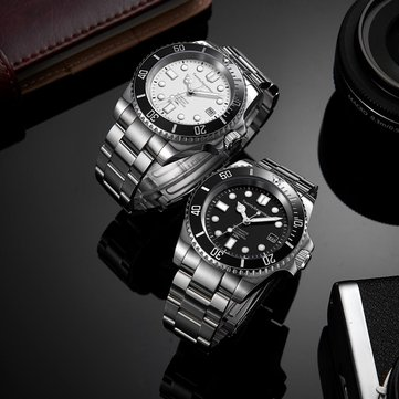 TwentySeventeen QingPai Mechanical Watch Deep Sea Series Ceramic Stainless Steel Case Luminous Display Men Watch from Xiaomi Youpin