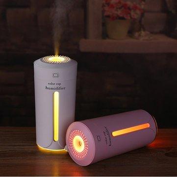DC 5V 5W USB Ultrasonic Aroma Humidifier Night Light Cup Mini Air Essential Oil Diffuser Purifier