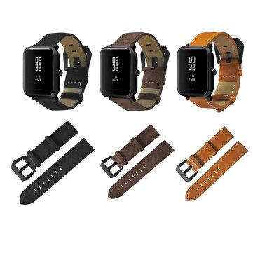 20mm Watch Band הלהקה מקורית עור Watchband החלפת עבור חואמי AMAZFIT