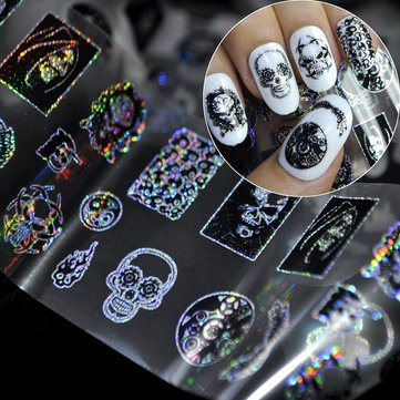 How can I buy Dancingnail Halloween Skull Head Nail Sticker Punk Style Zombie Design Decoration with Bitcoin