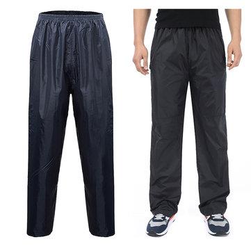 Waterproof Over Trousers Motorcycle Hiking Hardwearing Mens Ladies Fishing Pants