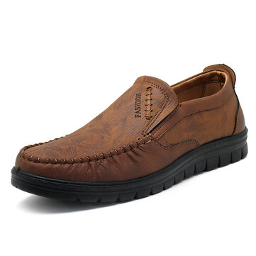 Men Microfiber Leather Business Casual Shoes Comfy Oxfords