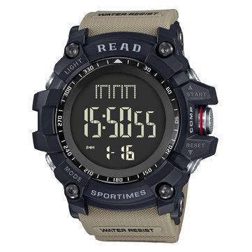 ריד R90002 שעון דיגיטלי צפייה רב תכליתי תצוגה אופנה שעון עצר שעון מעורר כפול שעון