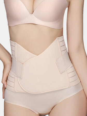 Women After Birth Belly Control Breathable Waist Trainer Solid Color Shapewear for sale in Litecoin with Fast and Free Shipping on Gipsybee.com