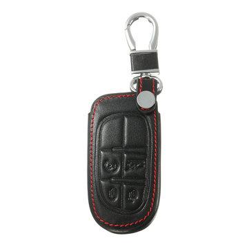 Chrysler 300 Black Leather Key Chain