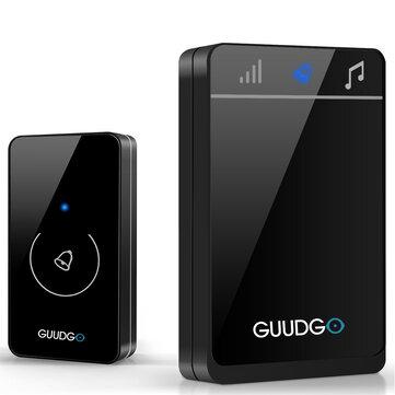 Guudgo GD-MD01 Kablosuz Dokunmatik Ekranlı Müzik Kapı Zili Su Geçirmez Kapı Zili 52 Melody Chime