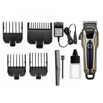 Kemei KM-1990 LCD Men Electric Shaver Beard Hair Clipper Trimmer Removal Grooming Kit