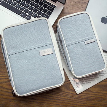 Fashion Large Leisure Bag Multifunctional Storage Bag for Travel Business Tickets Credit Cards Book iPad Organizer