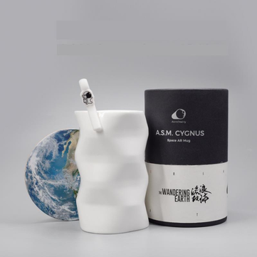 Mug Earth Spaceship AR Space Capsule Panorama Image Wandering Earth Birthday Gift Creative Coffee Cup
