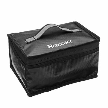 Upgraded Realacc Fireproof Waterproof Lipo Battery Safety Bag(220x155x115mm) With Luminous Handle