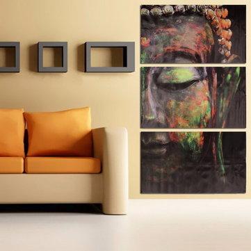 40x60cm estatuas de Buda de tres impresiones de lienzo sin marco arte de la pared pintura al óleo de la decoración del hogar