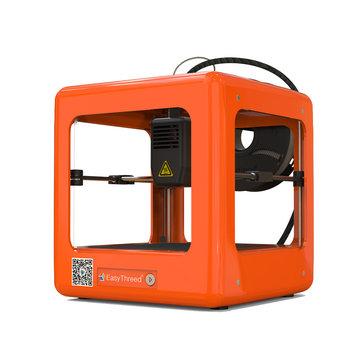 Easythreed Orange NANO Mini Fully Assembled 3D Printer 90110110mm Printing Size