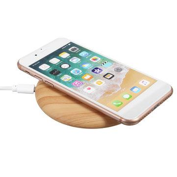 Bakeey 5W QI draadloos dock opladen van hout mat snel opladen lader voor iPhone X 8 / 8lus Samsung S8