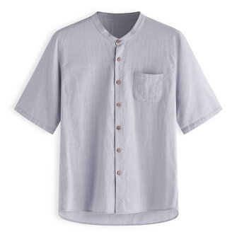 TWO-SIDED Vintage Loose Pure Color Plus Size Shirts for Men