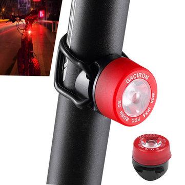 GACIRON W05 LED Bike Taillight 3 Modes IPX5 Waterproof Bicycle Warning Flashlight Rear Lamp