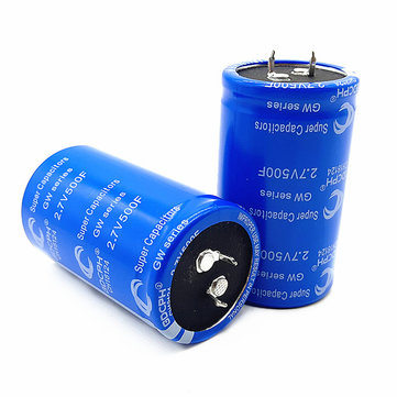 Super Fala Capacitor 2.7v500f Can Be Used As Vehicle Rectifier Low Temperature Starting Capacitor Blue 2.7V 500F