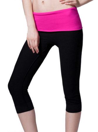 फैशन मॉडल लोचदार Slimming योग स्वास्थ्य फसल ट्राउजर चल रहा है