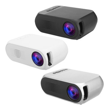 $48.99 for YG-320 Mini LCD LED Projector 400-600 Lumens 320 x 240 Pixels 1080P Home Theater Cinema Projector