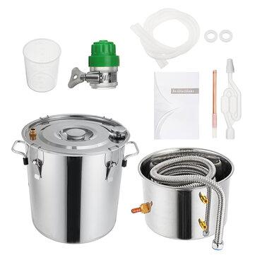 3GAL/5GAL/8GAL Water Distiller W-ine Alcohol Distiller Stainless Boiler W-ine Making Equipment Kit