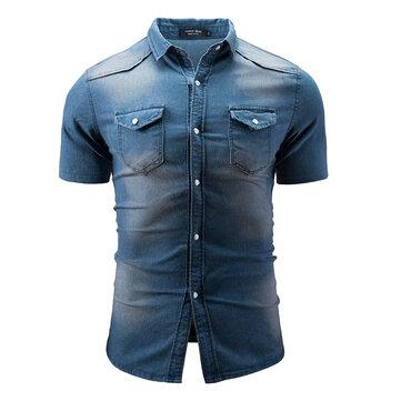 3d957c95c Мужская летняя рубашка с коротким рукавом на Banggood