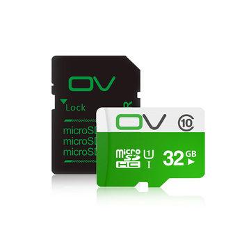 Original OV 80MB/S Class10 Micro SD Tarjeta de Memoría Con Conjunto de Lector de Micro SD a Tarjeta SD