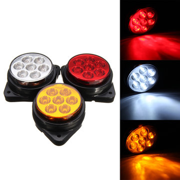 Car Round 7 LED Side Marker Lights Indicator Clearance Replacement Lamp Truck Trailer
