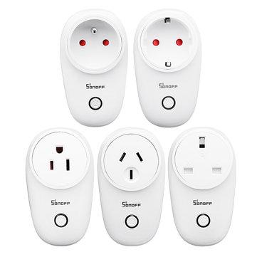 SONOFF® S26 10A AC90V-250V Smart WIFI-socket US / UK / AU / EU draadloze stekker stopcontacten