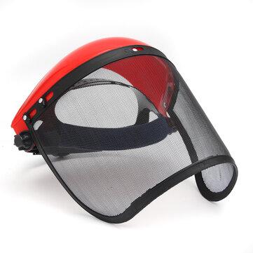 Maletín transparente Visera completa Pantalla de protección contra el rostro Máscara de seguridad Protector de ojos Casco Rojo