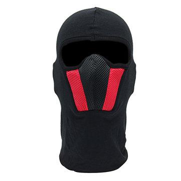 Volto Motocicletta Maschera Per Sport Uomo Sport Casco Collo Cappa Nero Rosso Grigio