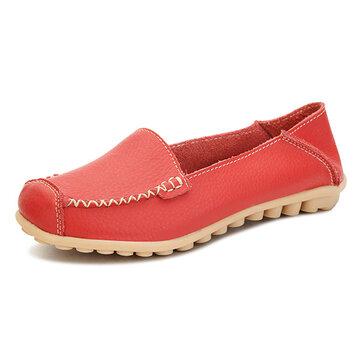 נשים נעלי נוחות נעלי נוחות מקרית על הבוהן Soft שטוח נעלי לופרס