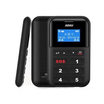 AEKU C9 1.3-inch 500mAh Low Radiation One Key Fast Dial SOS Long Standby Mini Card Phone