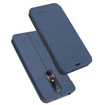 Bakeey ™ Antiurto Flip PU Custodia protettiva per il corpo pieno con slot per schede per Nokia X6 / 6.1 Plus