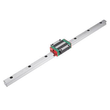 Machifit HGR15 100-1000mm Linear Rail Panduan dengan HGW15CC Linear Rail Slide Flange Blok Bagian CNC