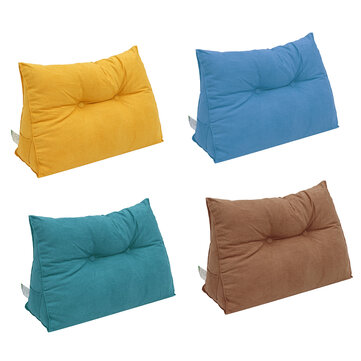 Chair Cushion Triangular Bedside Big Pillow Large Backrest Soft Bed 80*50*22cm