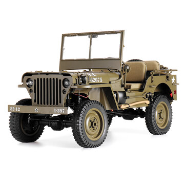 ROCHOBBY FMS 1/6 2.4G 2CH 1941 MB SCALER RC Car Waterproof Vehicle Models Fully Proportional Control