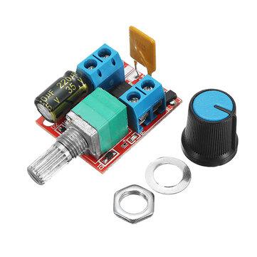 5V-30V DC PWM בקר מהירות מיני מתח חשמלי לבקרת LED מודול דימר