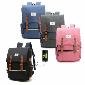 Men S Women Anti Theft Waterproof Laptop Backpack Bag Travel With External Usb Charging Port