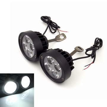 12V Motorcycle Super Light Waterproof  LED Headlight Rear View Mirror Lights Spot Lightt Assist Lamp