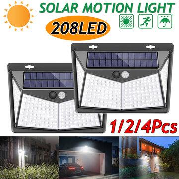 1//2//4pcs 25 LED Solar Powered PIR Motion Sensor Light Garden Security Wall Lamps
