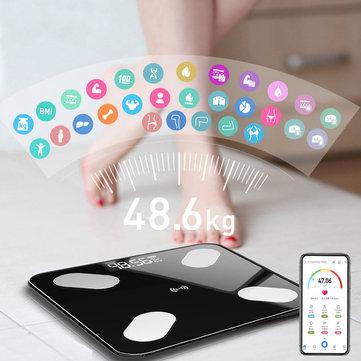 Mrosaa Digital Smart APP Electronic Weight Scale Body Fat Scale Smart BMI...