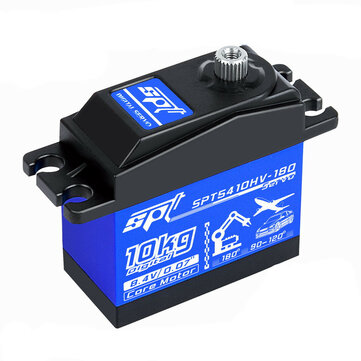 SPT 5410HV 180 10KG High Voltage High Speed Digital Servo for RC Car Robot Fixed Wing Helicopter