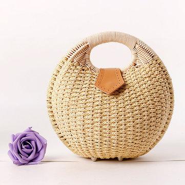 Women Nest Tote Handbag Summer Beach Bag Straw Bag Rattan Bag Handbag