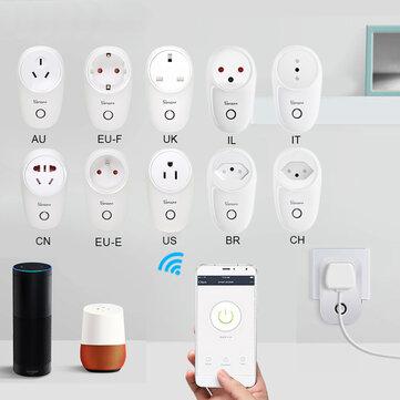 SONOFF® S26 10A AC90V-250V Smart WIFI Socket CN/US/UK/AU/DE/FR/BR/CH/IL/IT Wireless Plug Power Sockets Smart Home Switch Work With Alexa Google Assistant IFTTT