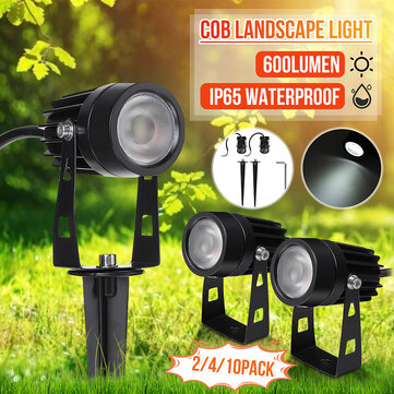 2PCS/4PCS/10PCS 12V 5W COB LED Lawn Lamp Pure White Outdoor Waterproof Garden Spotlights Landscape Yard Flood Light