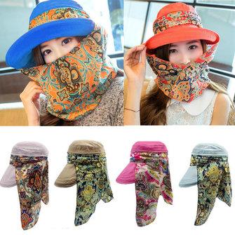महिला देवियों पॉलिएस्टर सनशाडे हैट फेस गर्दन सुरक्षात्मक मत्स्य पालन आउटडोर ग्रेडिंग कैप