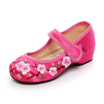 How can I buy This is Mary Janes Shoes for girls  It designed by Chinese embroidery  which style is ethnic  The shoes is comfortable and breathable because of its material is silk and linen  The closure type of the shoes is hook   loop  The shoe type of this shoes is flat that your girl can wear it to dance with Bitcoin