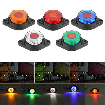 LED Side Marker Lights Clearance Indicator Lamp 1.6W 24V 5-Colors for Truck Trailer Bus