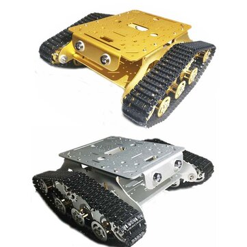 Caesar TSD-300 Shock Absorber Metal Chassis Double Layer Tank Car with 2pcs 9V Motor