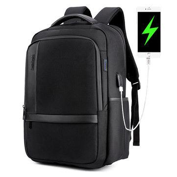 男性   18インチ     アンチショック    防水    バックパック カジュアル   旅行   バッグ USB  充電  ポート&ヘッドフォン    ホール付き