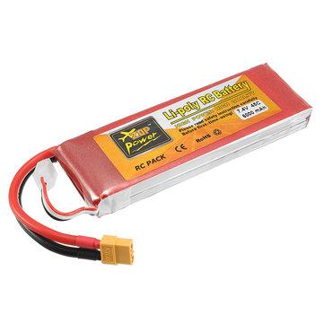 ZOP Potencia 7.4V 6000mAh 45C 2S Batería de Lipo XT60 Enchufe para Rc Racing Coche